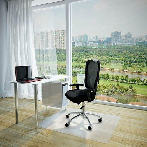 Tappeto protettivo salvapavimento per sedie ufficio di plastica parquet  laminato dimensioni: 90x120