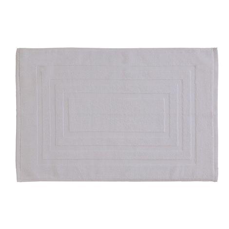 Tappeto Scendi Doccia Bianco In Cotone 45x65 Cm