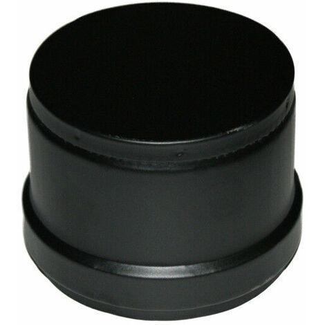 """Tappo condensa /""""chiuso/"""" per stufa a pellet acciaio nero certificato TECNOMETAL"""
