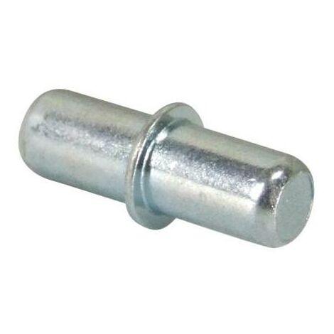 Taquet d'étagère à enfoncer en acier zingué ø 5 mm boîte de 100 pièces