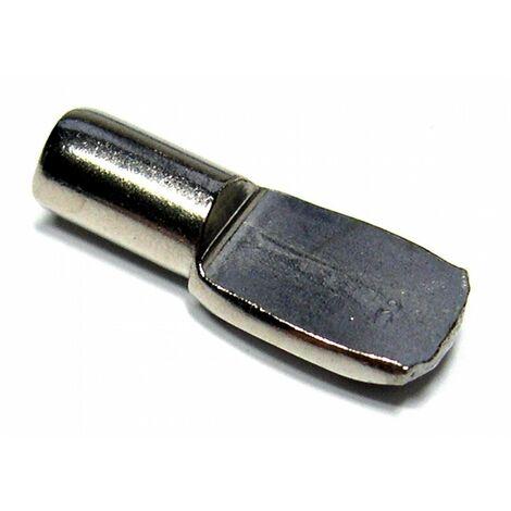 Taquet d'étagère acier tige ø 5 nickelé 12 pce(s)