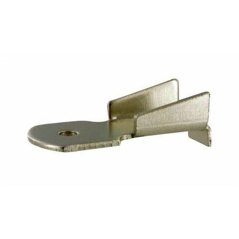 Taquet pour crémaillère de 11 à 16 mm en acier- plusieurs modèles disponibles