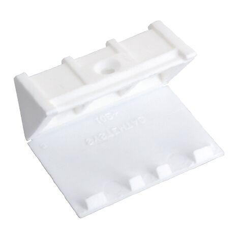 Taquet Vynex plastique Blanc 24 mm - 4 pcs