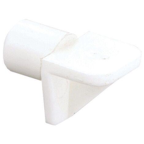 Taquet Vynex plastique Blanc diam. 5 mm - 30 pcs