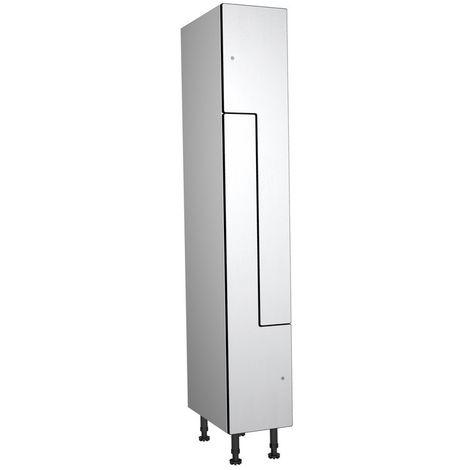 Taquilla fenólica, 1 Puerta Z, 317x1800x500 mm, Cerradura de Llave, Blanca