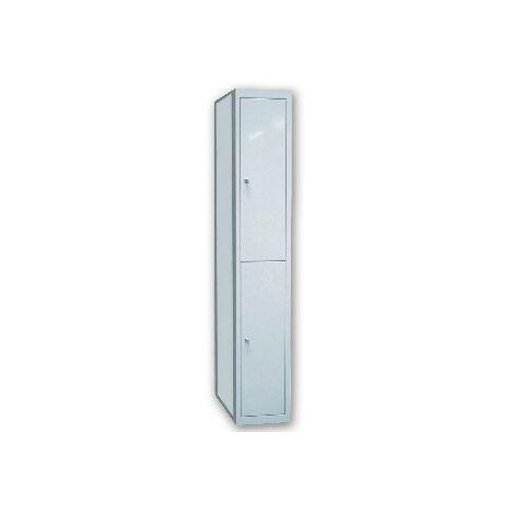 Taquilla metalica ar storage 50x180x40 cm 2 puertas con llave color gris continuacion