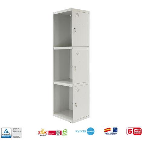 TAQUILLA METALICA PRO DESMONTADA 3 DOORS 1/3 400 ADICIONAL 1800x400x500 mm