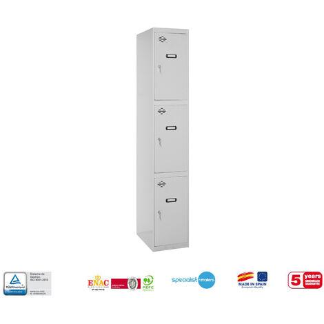 TAQUILLA METALICA PRO DESMONTADA 3 DOORS 1/3 400 INICIAL 1800x400x500 mm