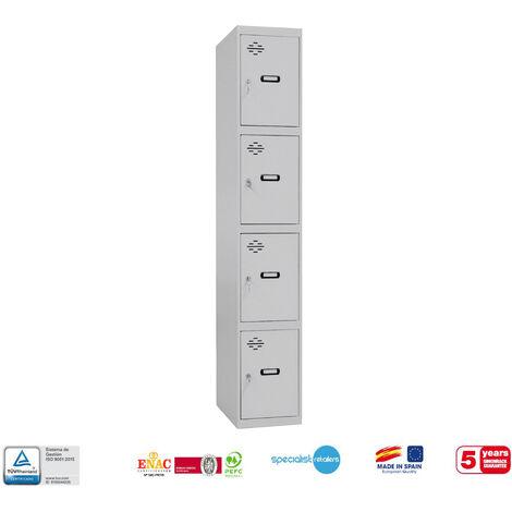 TAQUILLA METALICA PRO DESMONTADA 4 DOORS 1/4 300 INICIAL 1800x300x500 mm