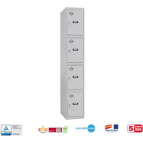TAQUILLA METALICA PRO DESMONTADA 4 DOORS 1/4 400 INICIAL 1800x400x500 mm