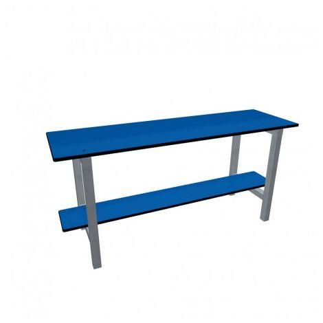 TAQUILLEA: Banco vestuario fenólico, 1000 x 467 x 300 mm, Azul