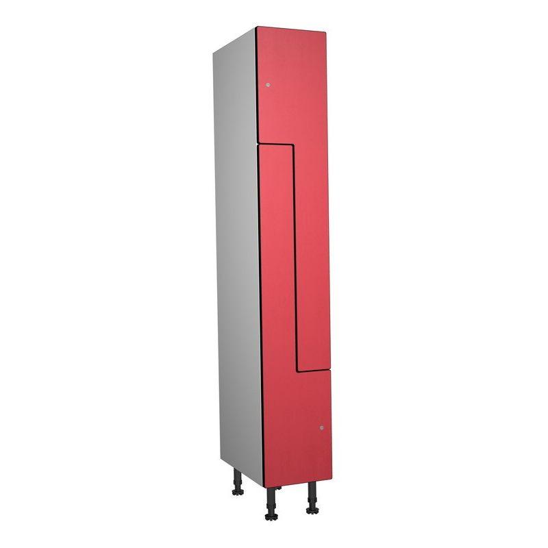 Taquillea - Casier Phénolique, 2 Portes Z, 317x1800x500 mm, Serrure À clé Rouge