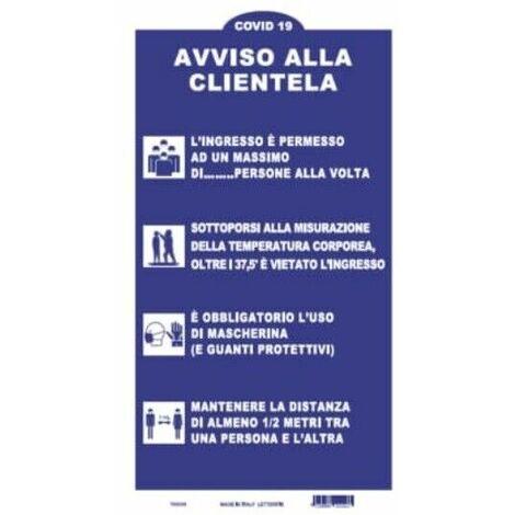 Segnaletica con regole sicurezza e comportamento Segnale Cartello misura 50x35 cm