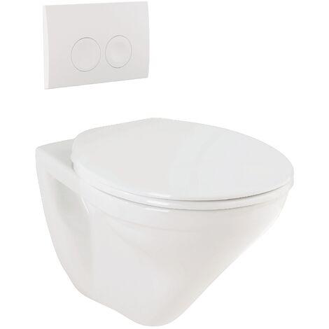 Targa Wand-WC-Set | weiß