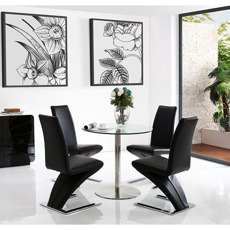 Target Dining Table with 2 Black Zed Dining chairs