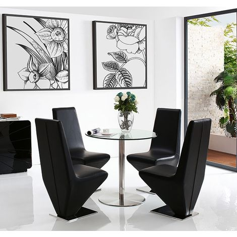 Target Dining Table with 4 Black Rita Dining chairs