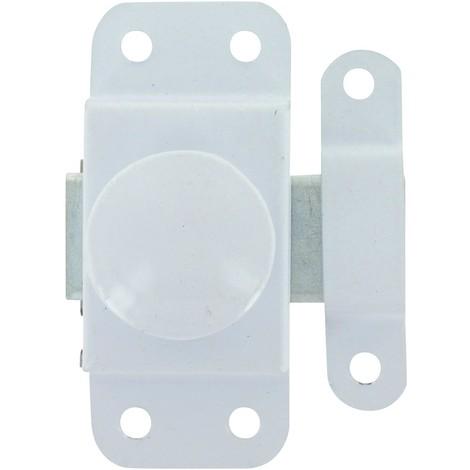 Targette bouton tournant epoxy blanc 25 epoxy blanc