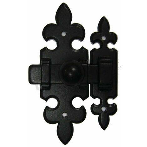 Targette fleur de lys - fer noir ou patiné - BOUVET