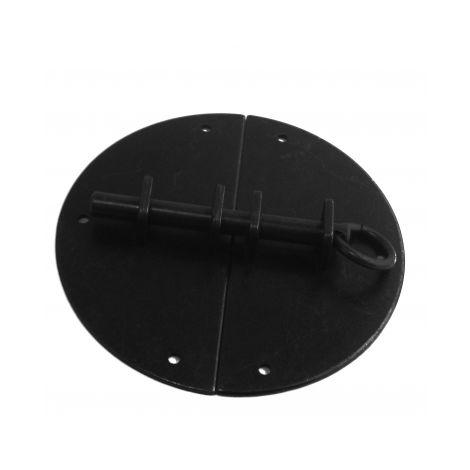Targette ronde ancien en laiton noir finition antique, FERRURE