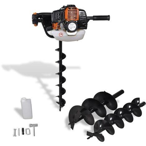 Tarière de sol Orange/Tarière thermique Diamètre de perçage:100 mm/150 mm/200 mm