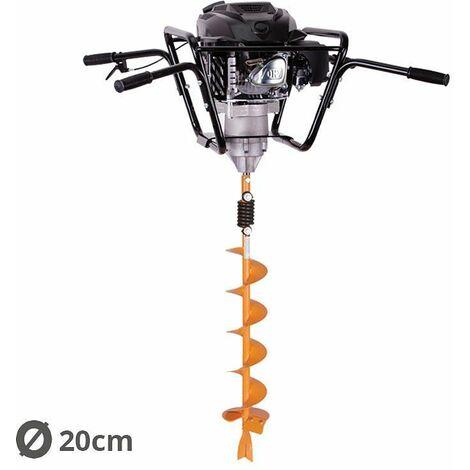 Tarière motorisée 4 temps 150 cm3 3,4 cv avec mèche 20cm Villager VPH 170
