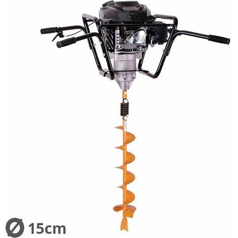 Tarière motorisée 4 temps 150 cm3 3,4 cv avec vrille 15cm Villager VPH 170