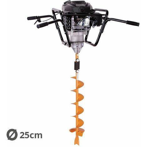 Tarière motorisée 4 temps 150 cm3 3,4 cv avec vrille 25cm Villager VPH 170