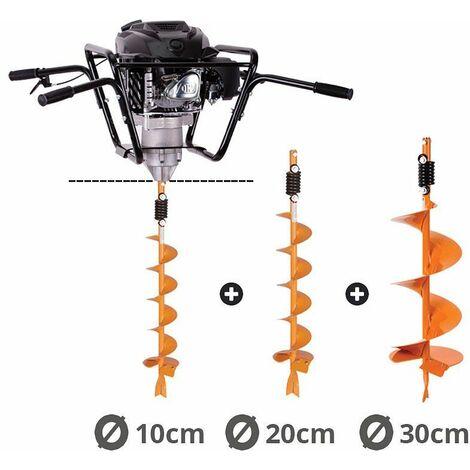 Tarière motorisée 4 temps 150 cm3 mèches 10-20-30cm Villager VPH 170