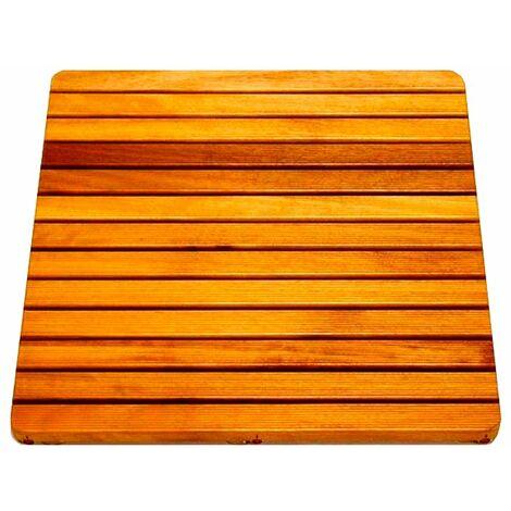 Tarima de madera antideslizante ducha
