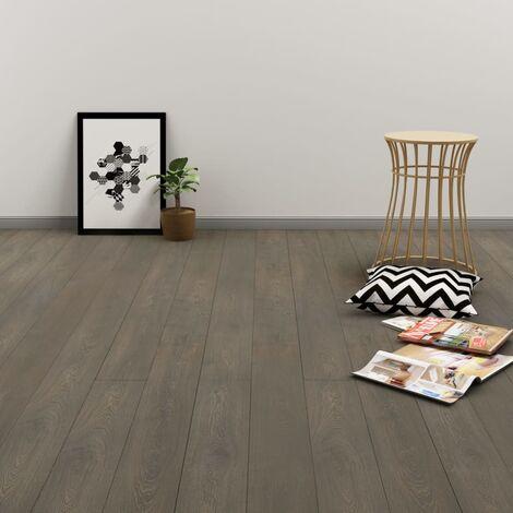 Tarima flotante de click 3,51 m² 4 mm PVC gris y marrón