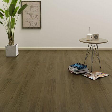 Tarima flotante de click 3,51 m² 4 mm PVC marrón
