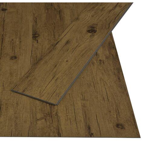 Tarima flotante de click 3,51 m² 4 mm PVC marrón natural