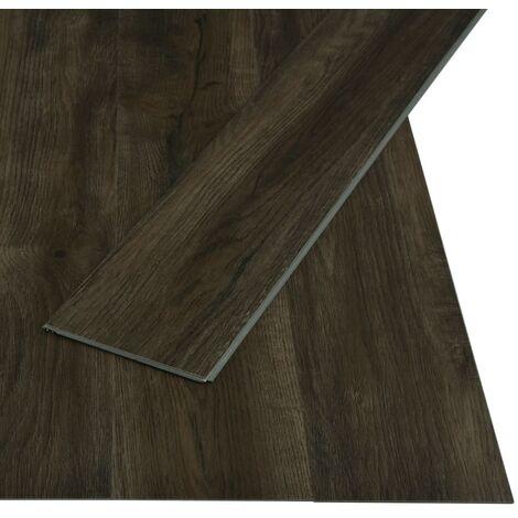 Tarima flotante de click 3,51 m² 4 mm PVC marrón oscuro