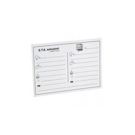 Tarjeta identificadora cartón STA