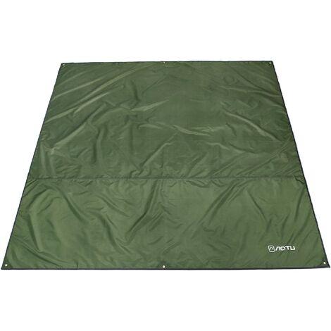 Tarp Ultra Léger Tapis de Sol Bâche de Camping Parasol Couverture Abri Auvent Imperméable pour Tente Hamac Pique-Nique Randonnée Plage