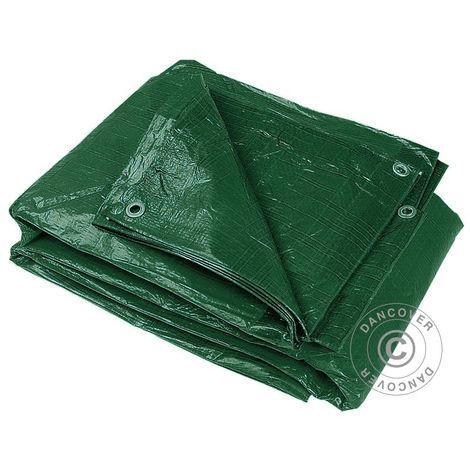 Tarpaulin 10x20 m, PE 65 g/m² Green