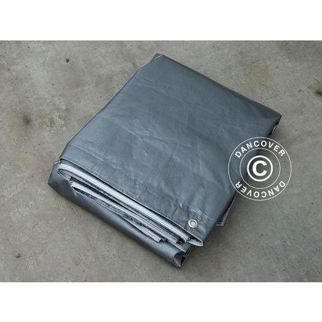 Tarpaulin 3x10 m, PE 300 g/m², Grey