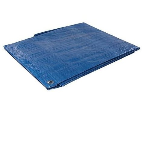 3.5M x 3.5M ECONOMY BLUE WATERPROOF TARPAULIN SHEET TARP COVER WITH EYELETS