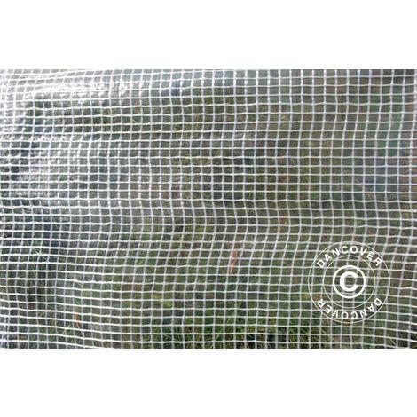 Tarpaulin 8x10 m, Net reinforced PE 200 g/m², Clear