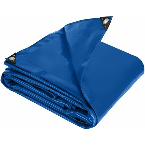 Tarpaulin blue - protective cover for garden furniture and more - tarpaulin sheet, heavy duty tarpaulin, waterproof tarpaulin - 300 x 500 cm - blue