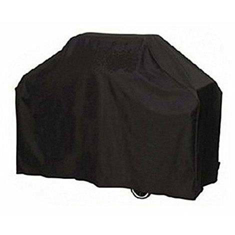 Tarpaulin Cover Barbecue BBQ Protection Dust Dirt Rain Black Garden Patio 145x61x117cm