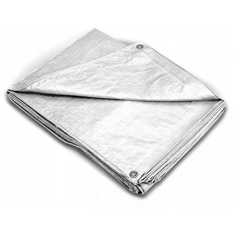 Tarpaulin reinforced 4 x 5 m 200 g thick silver