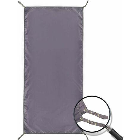 Tarre de camping imperméable de la tente de camping, 4 en 1 Empreinte de tente multifonctionnelle pour le camping Randonnée sur la tache de survie, Compact léger (90 * 210 cm)