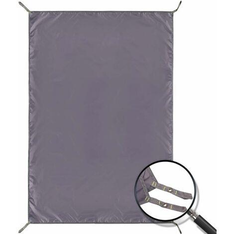 Tarre de camping imperméable Tarp, 4 en 1 Tente Empreinte Multifonctionnelle pour Camping Randonnée Survival Tarp, Compact léger (140 * 210cm)
