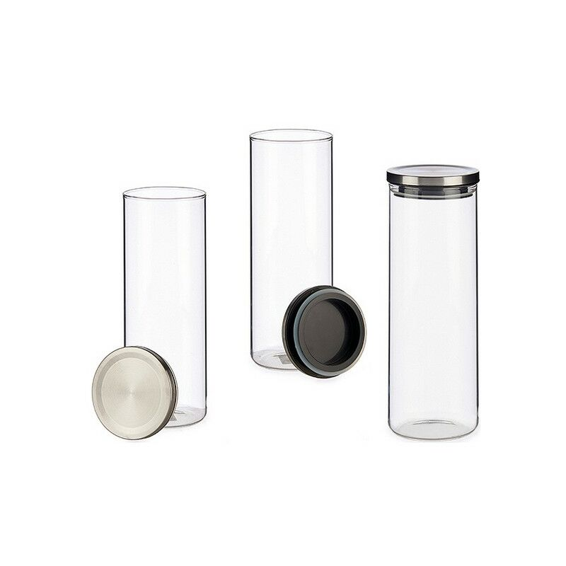 Tarro De Cristal Metal Cristal 10 X 28,5 X 10 Cm - LTD