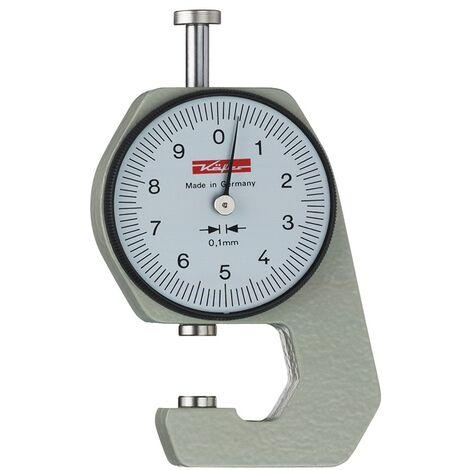Taschendickenmessgerät K 15 0-10mm Abl. 0,1mm plan 6,35mm m. Kal. Käfer