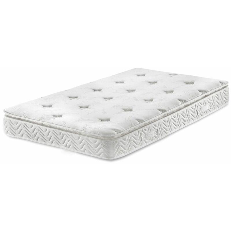 Memory Foam Matratze mit Taschenfederkern Creme 90 x 200 cm Komfortabel Medium Härtegrad - BELIANI