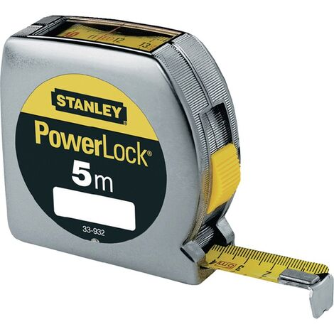 Taschenrollbandmaß PowerLock® L.5m B.19mm mm/cm EGII Ku.Sichtfenster SB STANLEY