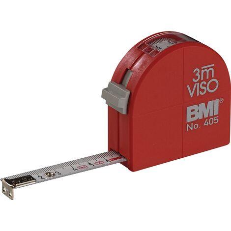 Taschenrollbandmaß VISO L.3m B.16mm mm/cm EG II PA Sichtfenster BMI