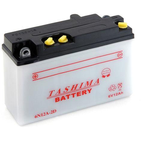 Tashima - Batería moto 6N12A-2D 6V 12Ah